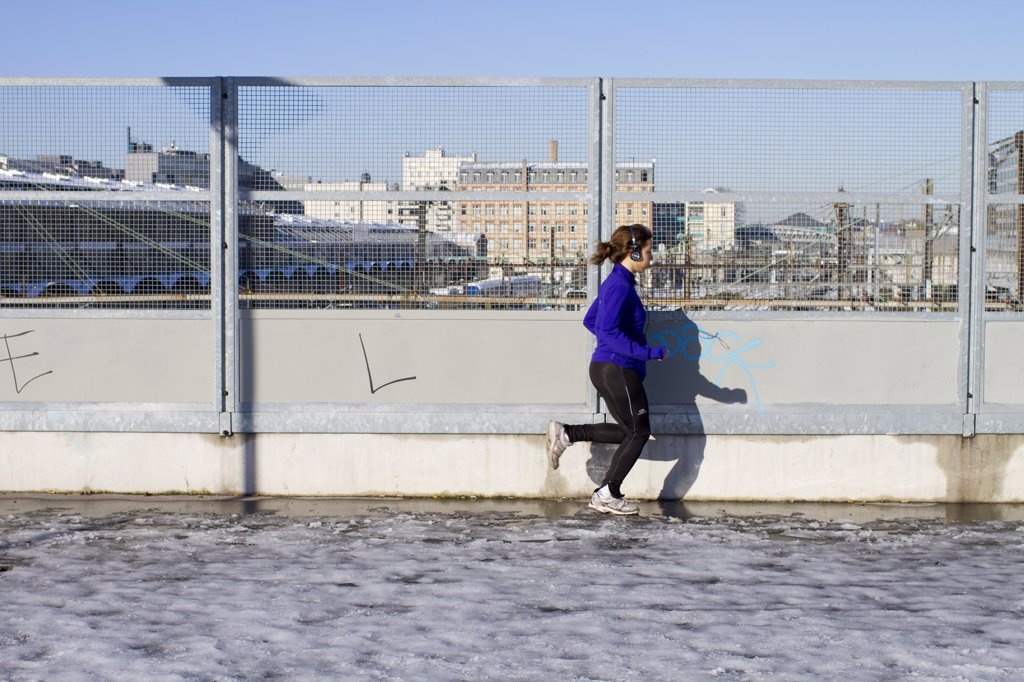 France, Paris, jogging : Stock Photo