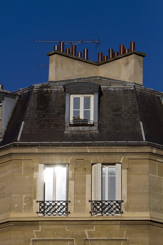 Stock Photo: 1606-133532 France, Paris, Avenue des Gobelins, building