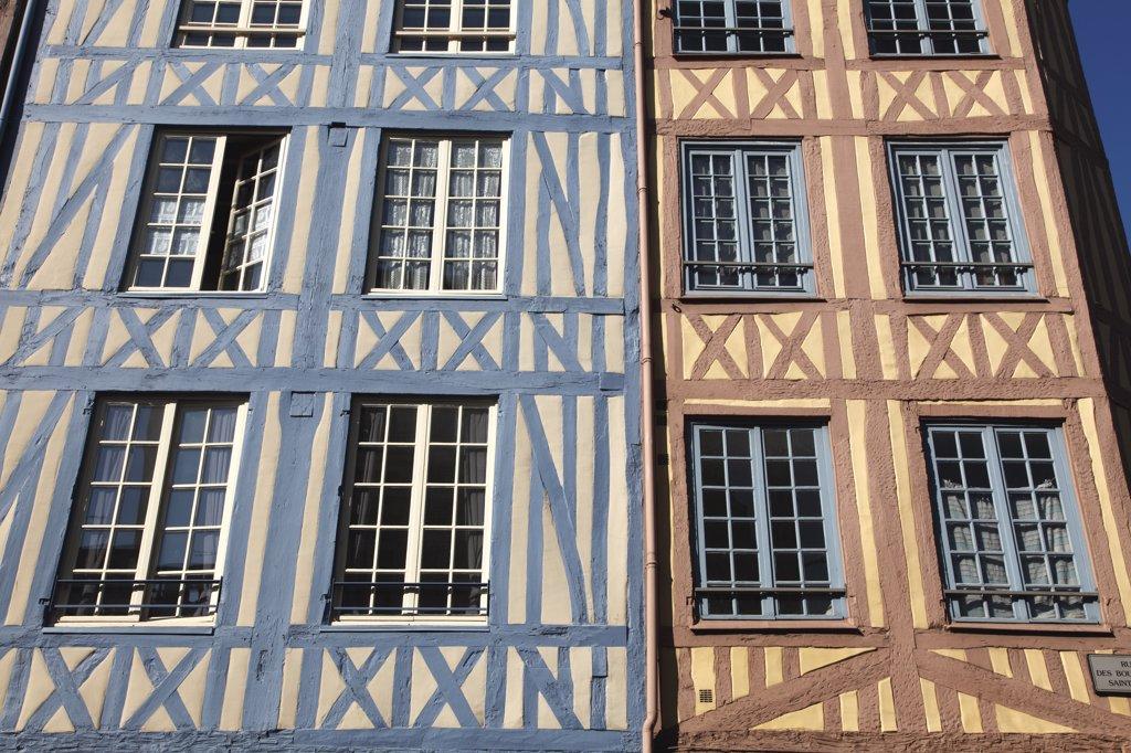 France, Normandy, Upper Normandy, Seine Maritime (76), Rouen, Boucheries street : Stock Photo