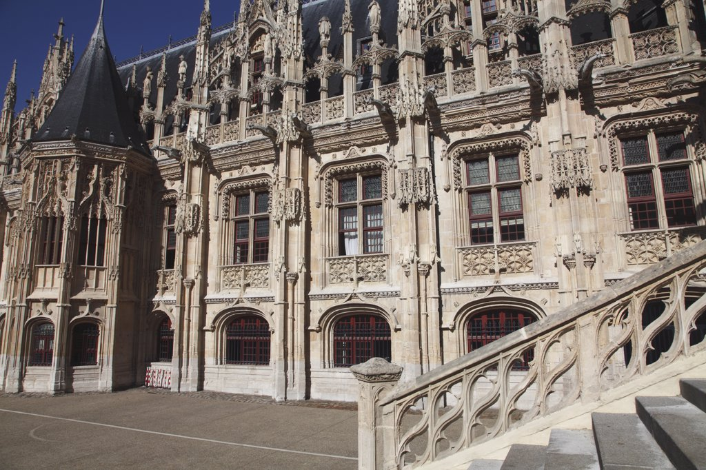 France, Normandy, Upper Normandy, Seine Maritime (76), Rouen, courthouse : Stock Photo