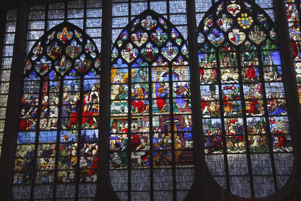 Stock Photo: 1606-133804 France, Normandy, Upper Normandy, Seine Maritime (76), Rouen, Sainte Jeanne d'Arc church, stained glass window from 16th century