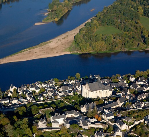 Stock Photo: 1606-134689 France, Candes Saint Martin, river Loire