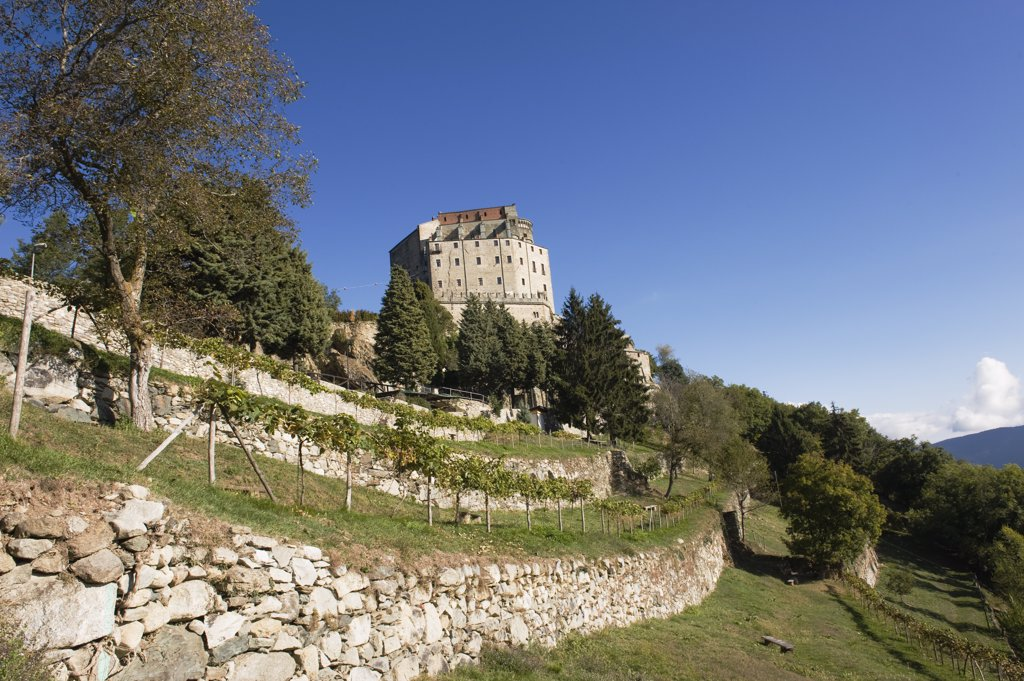 Italy, Piedmont, Val di Susa, Sacra di San Michele : Stock Photo