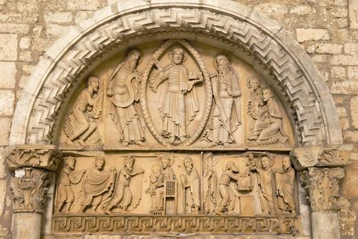 France, Burgundy, Nièvre, La Charité sur Loire, Notre Dame church : Stock Photo