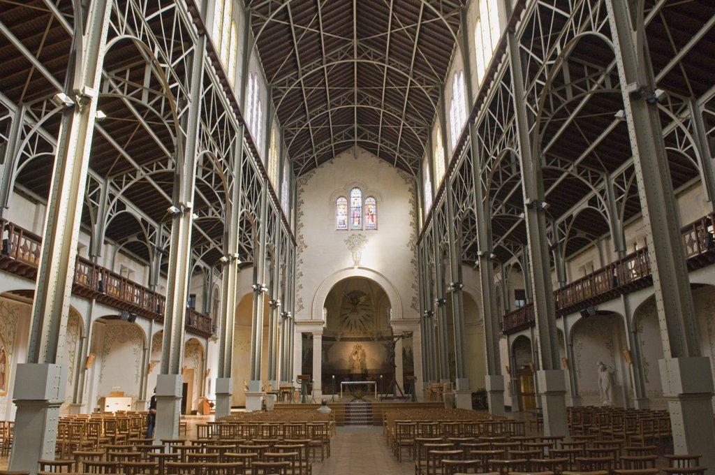 France, Paris, Notre Dame du Travail church : Stock Photo