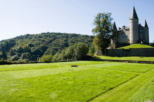 Belgium, Celles (Houyet), Castle of Vêves : Stock Photo