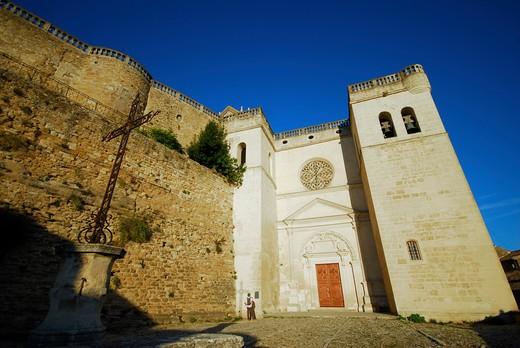 France, Provence, Grignan, collegiate church : Stock Photo