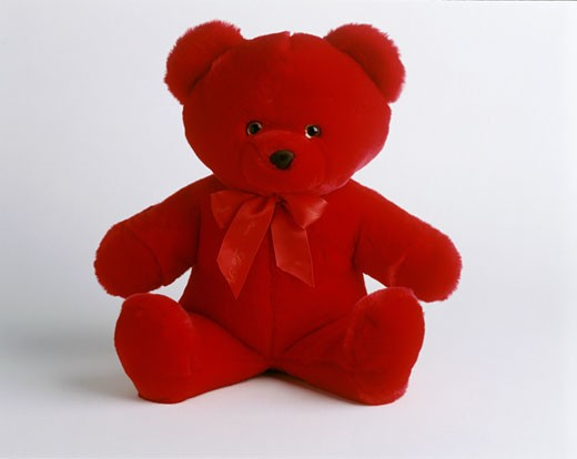 Stock Photo: 1606-13699 Close-up of red teddy bear