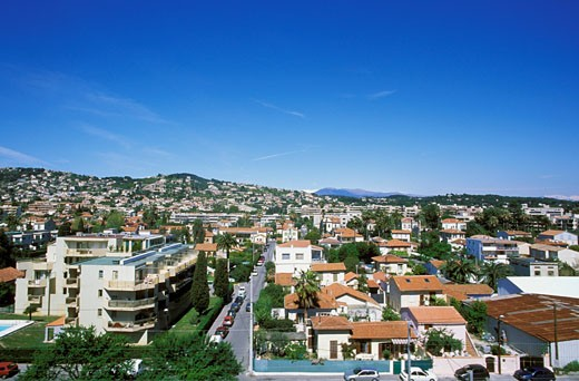 France, French Riviera, Alpes Maritimes, Golfe Juan, general view : Stock Photo