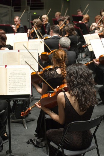 Stock Photo: 1606-137810 Western France, Nantes, classical music festival (La Folle Journée), Ural Philharmonic Orchestra