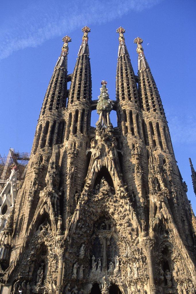 Spain, Catalonia, Barcelona, La Sagrada Familia basilica (Unesco world heritage) : Stock Photo