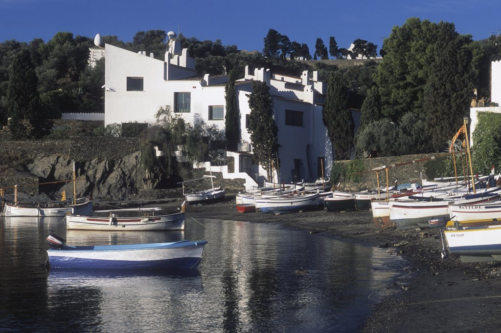 Spain, Catalonia, Girona province, Alt Emporda (Costa Brava),Cadaques, Port  Lligat hamlet, Salvador Dali house : Stock Photo