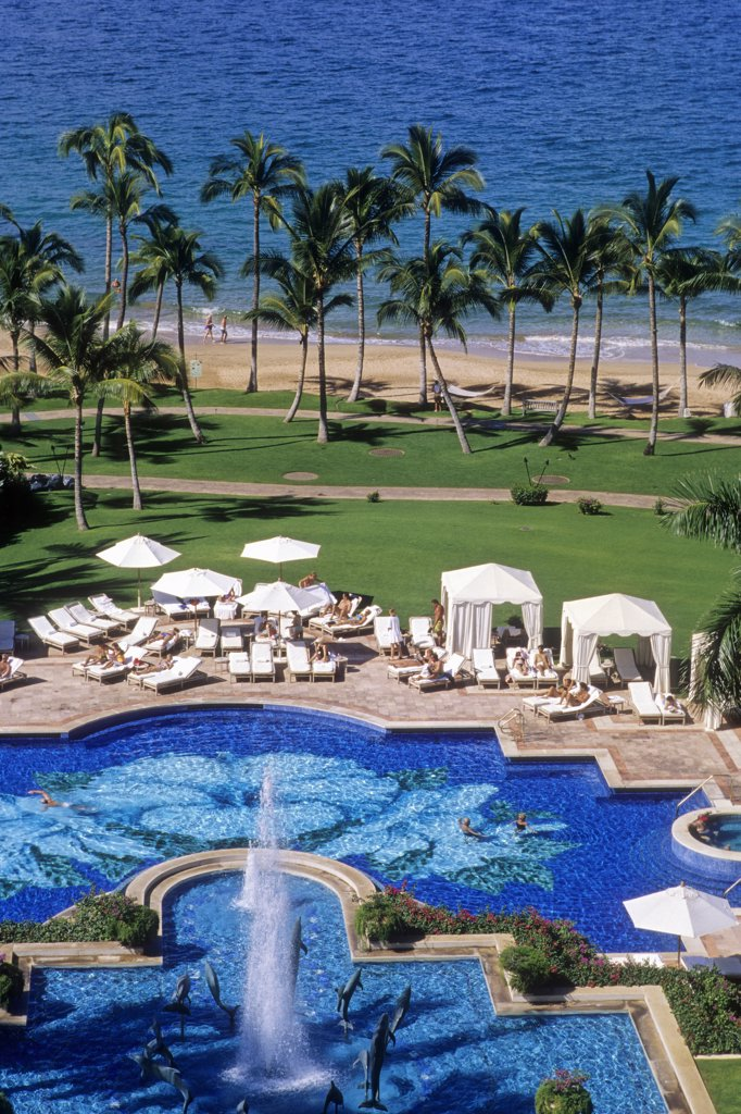USA, Hawaii, Maui island, Wailea, Wailea Grand Resort : Stock Photo