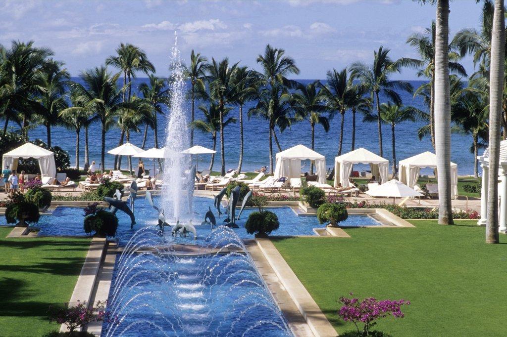 USA, Hawaii, Maui island, Wailea, Wailea Grand Resort : Stock Photo
