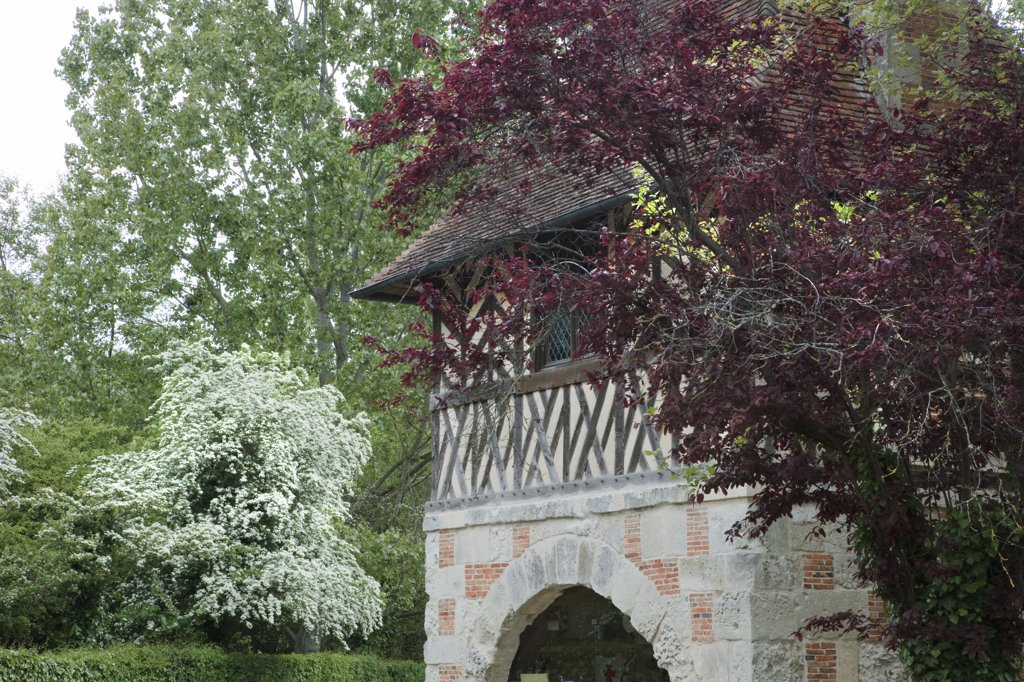 France, Normandy, Pays d'Auge, Crèvecœur-en-Auge, castle : Stock Photo