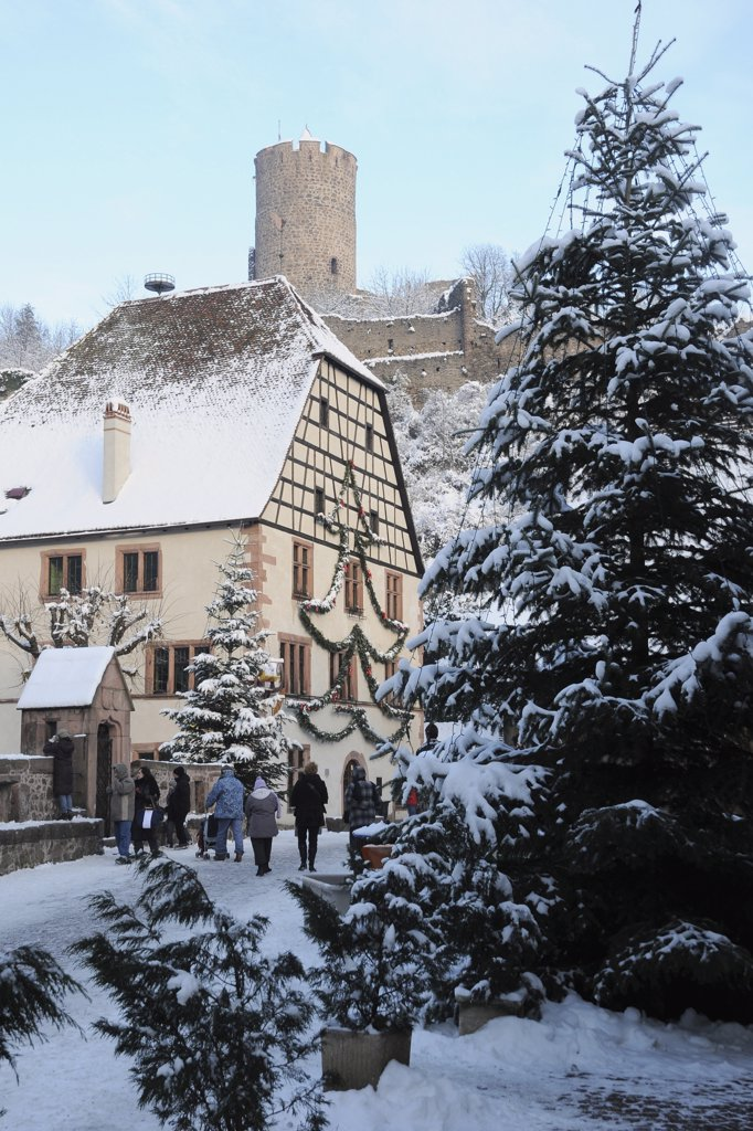 Stock Photo: 1606-138703 Eastern France, Alsace, Kaysersberg, Christmas