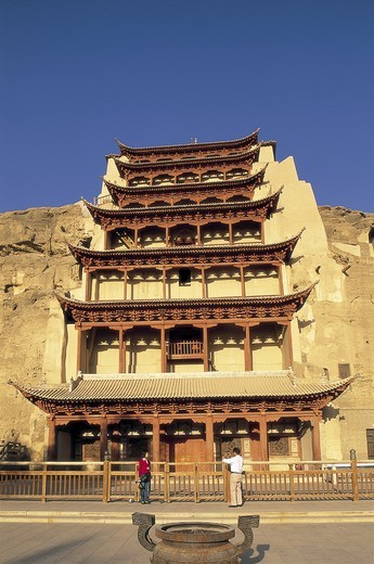 Stock Photo: 1606-140978 China, Gansu Province, Dunhuang, Mogao Caves