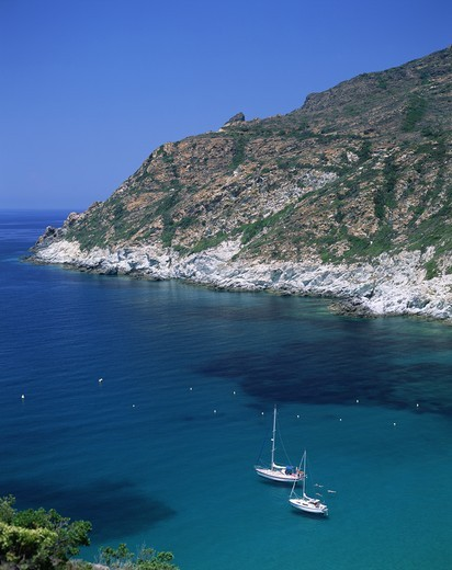 Stock Photo: 1606-141308 France,Corsica,Sagone Gulf,Typical Coastal View