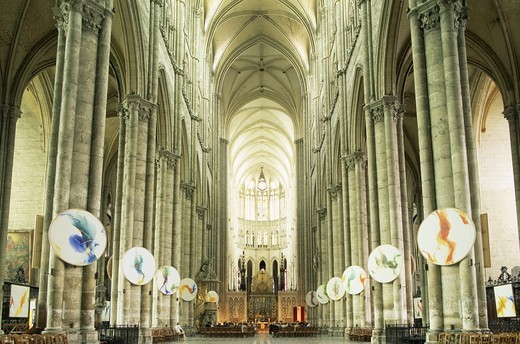 Stock Photo: 1606-141355 France,Somme,Amiens,Amiens Cathedral,Interior
