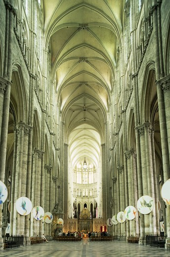 Stock Photo: 1606-141356 France,Somme,Amiens,Amiens Cathedral,Interior