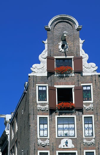 Netherlands, Amsterdam, building façade : Stock Photo