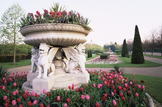 England,London,Regents Park,Avenue Gardens,Flower Display : Stock Photo