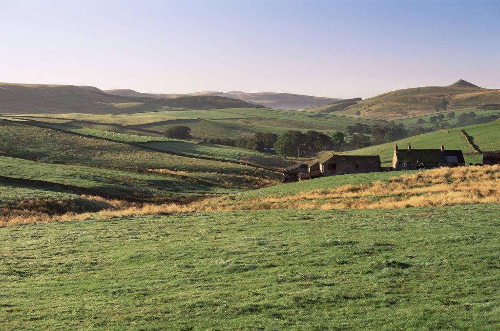 United Kingdom,Great Britain,England,Derbyshire,The Peak District near Buxton : Stock Photo