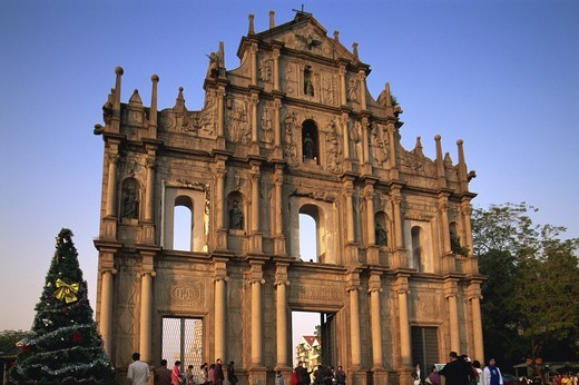 Stock Photo: 1606-144225 China,Macau,Ruins of St.Paul's Church