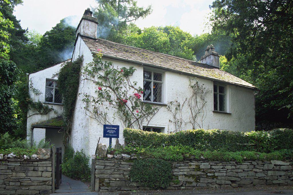 Stock Photo: 1606-144441 England,Cumbria,Lake District,Grasmere,Dove Cottage,Wordsworths House