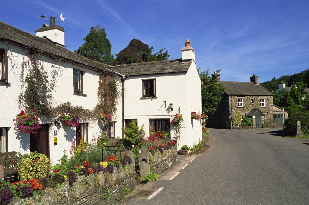 England,Cumbria,Lake District,Beatrix Potter's Home Village of Near Sawrey : Stock Photo