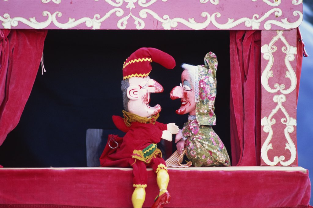 England,Punch and Judy show : Stock Photo