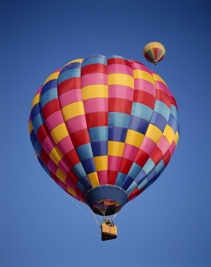 Stock Photo: 1606-145182 USA, New Mexico, Albuquerque, Colourful Hot Air Balloons in Sky