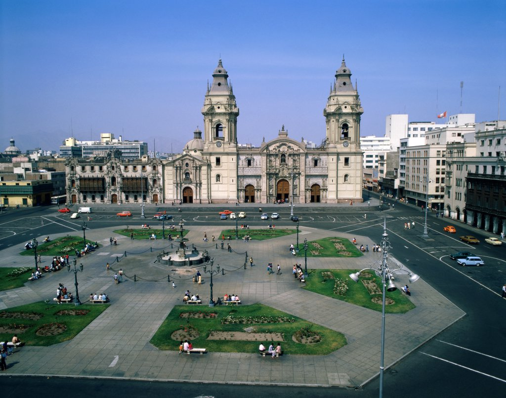 Peru, Lima, Plaza de Armas : Stock Photo