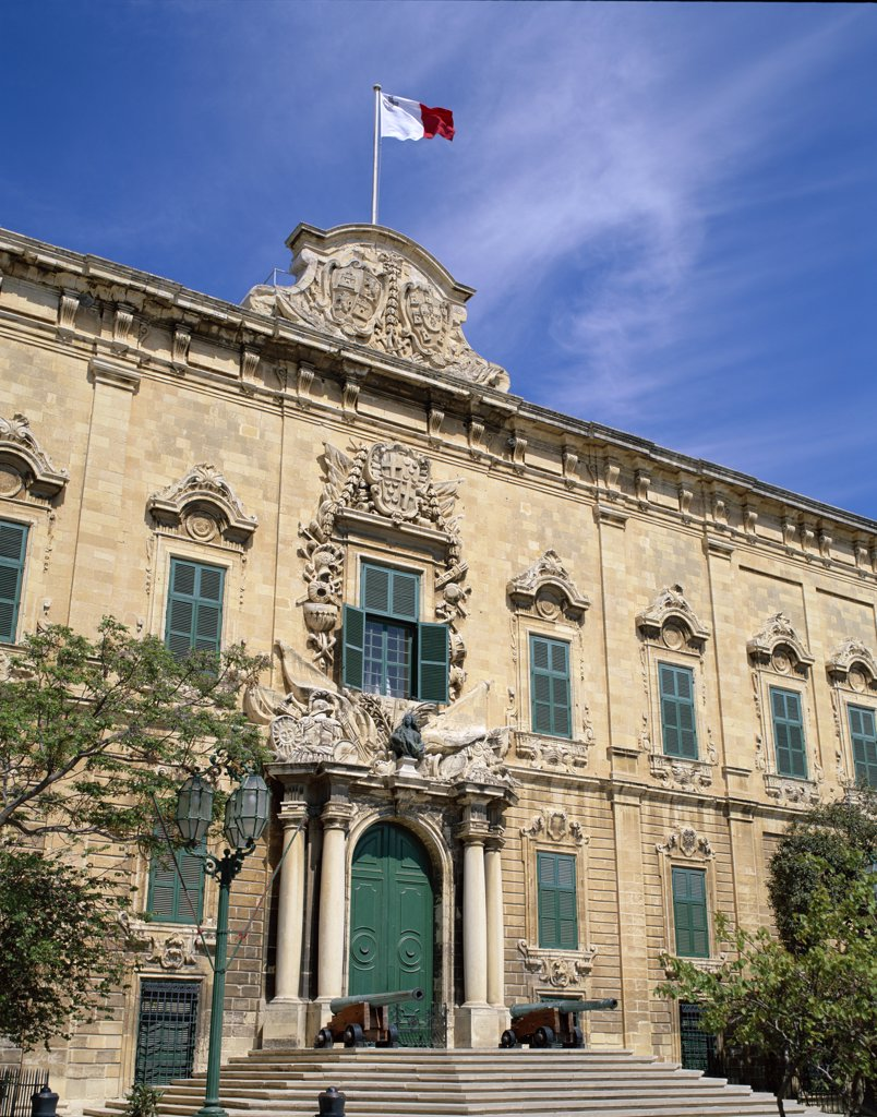 Malta, Valetta, The Auberge De Castille Building : Stock Photo