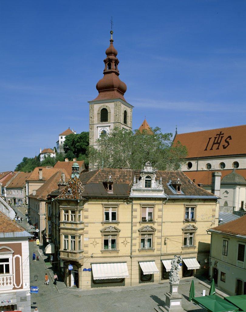 Stock Photo: 1606-147926 Slovenia, Stajerska, Ptuj, Town Centre