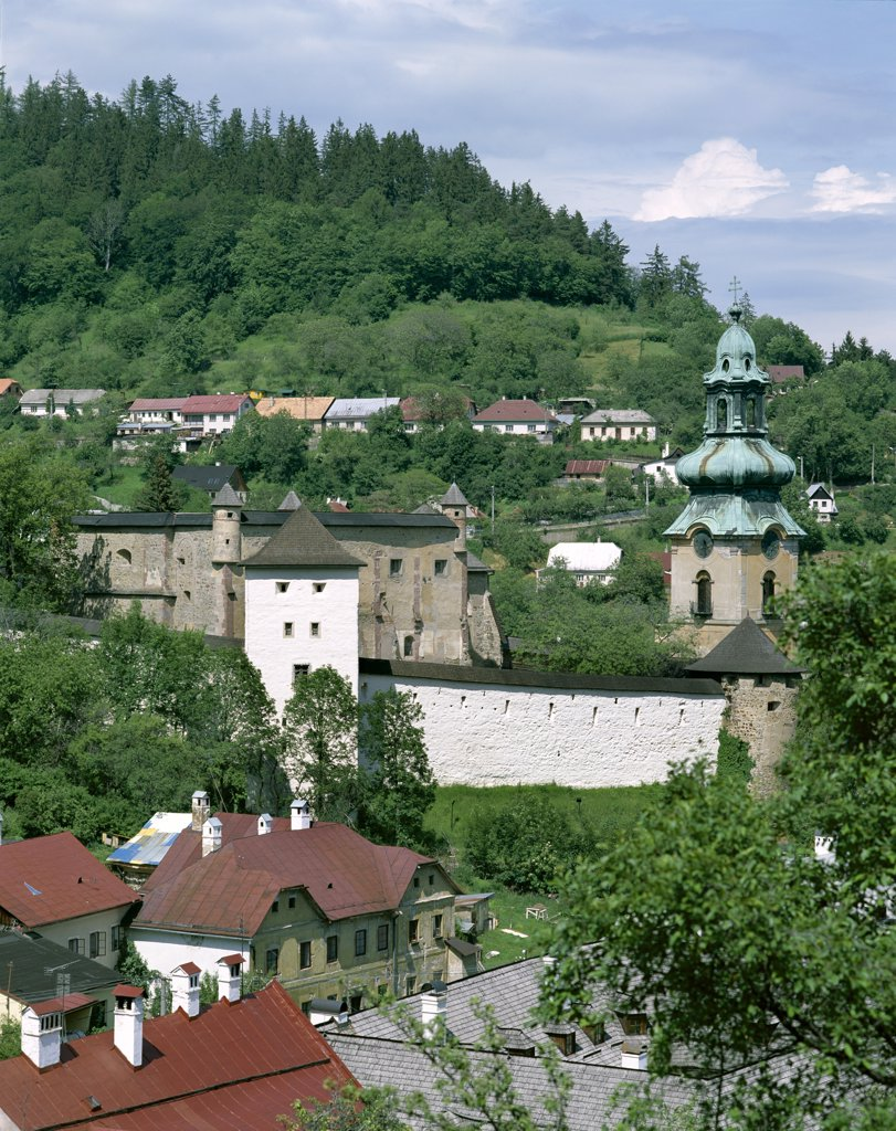 Stock Photo: 1606-147951 Slovakia, The Mountain Regions, Banska Stiavnica, The Old Castle (Stary Zamok)