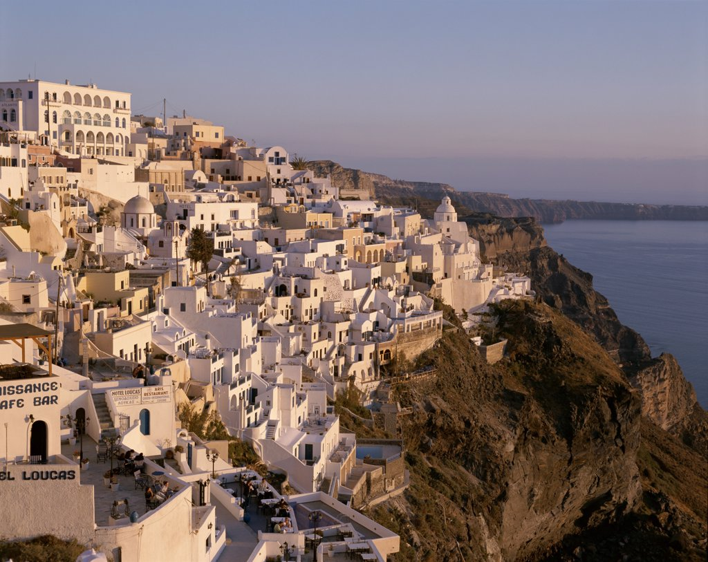 Greece, Cyclades Islands, Thira (Fira), Santorini : Stock Photo