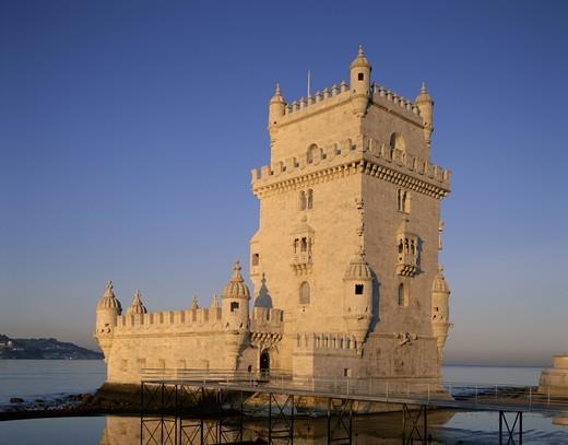 Portugal, Lisbon, Belem Tower (Torre de Belem) : Stock Photo