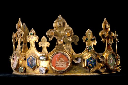 France, Picardie, Somme, Amiens, cathedral, a 14th century crown : Stock Photo