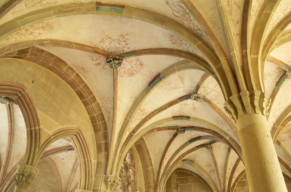 Stock Photo: 1606-148913 Germany, Baden-Wurttemberg, Maulbronn, Black Forest (Schwarzwald) / Maulbronn Abbey / Interior Roof Detail