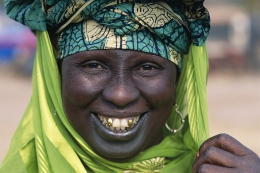 Gambia, Banjul, African Woman / Portrait : Stock Photo