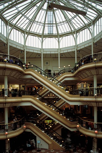 Scotland, Glasgow, The Art Deco Princess Square, interior shopping centre : Stock Photo