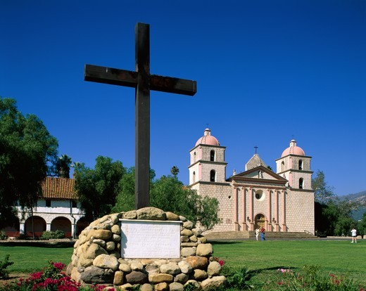 USA, California, Santa Barbara, Mission Santa Barbara : Stock Photo