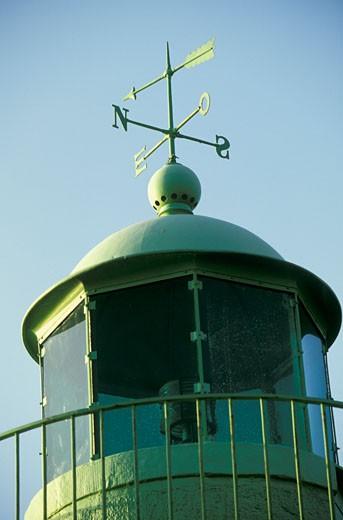 France, Corsica, Bastia, lighthouse, weather vane : Stock Photo