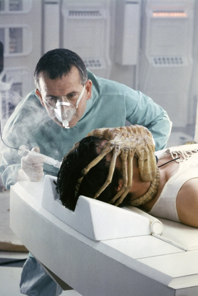 Stock Photo: 1606-150538 Ian Holm, John Hurt / Alien 1979 directed by Ridley Scott