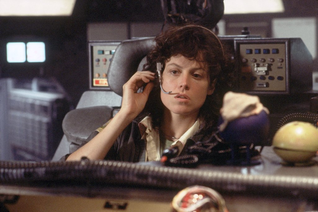 Sigourney Weaver / Alien 1979 directed by Ridley Scott : Stock Photo