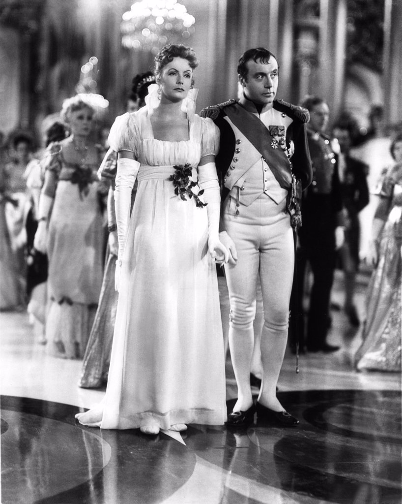 Stock Photo: 1606-151302 Greta Garbo, Charles Boyer / Conquest 1937 directed by Clarence Brown
