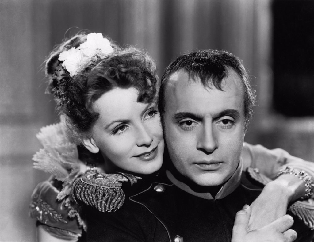 Stock Photo: 1606-151303 Greta Garbo, Charles Boyer / Conquest 1937 directed by Clarence Brown