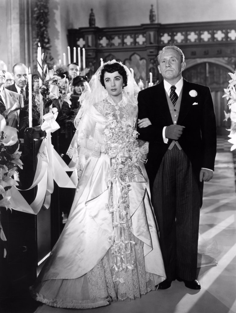 Elizabeth Taylor, Spencer Tracy / Father of the Bride 1950 directed by Vincente Minnelli : Stock Photo
