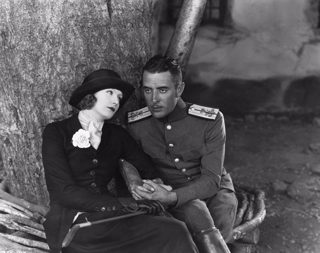 Stock Photo: 1606-151942 Greta Garbo, John Gilbert / Love 1927 directed by Edmund Goulding